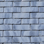 background of roof with slate tiles. close-up and full screen